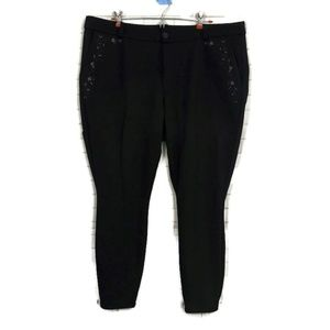 KUT FROM THE KLOTH Embroidered Skinny Pants 16W